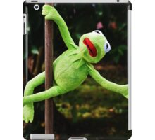 Kermit the frog on a pole iPad Case/Skin
