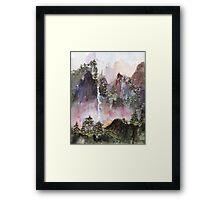 China Falls Framed Print