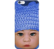 ADORABLE BABY BLUE - PICTURE - CARD iPhone Case/Skin