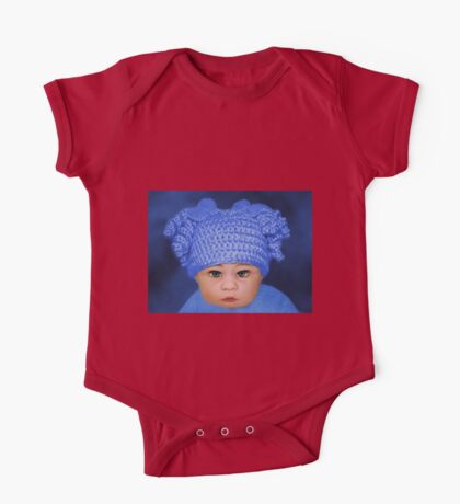 ADORABLE BABY BLUE - PICTURE - CARD One Piece - Short Sleeve