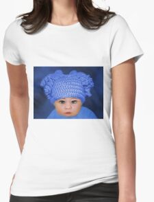 ADORABLE BABY BLUE - PICTURE - CARD Womens Fitted T-Shirt