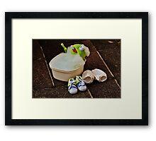 Kermit having a bath Framed Print