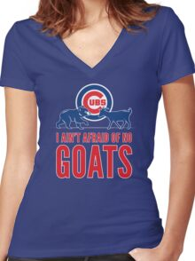 I Ain't Afraid of No Goats Women's Fitted V-Neck T-Shirt