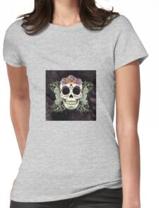 Abstract Skull Illustrator Womens Fitted T-Shirt