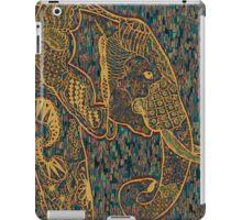 Zentangle Elephant Gold iPad Case/Skin