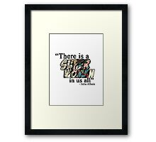 """There is a Superwoman in us all."" Framed Print"