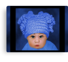 ADORABLE BABY BLUE CHILDRENS PILLOWS AND OR TOTE BAG Canvas Print