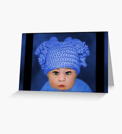 ADORABLE BABY BLUE CHILDRENS PILLOWS AND OR TOTE BAG Greeting Card