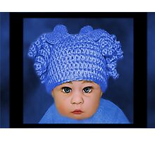 ADORABLE BABY BLUE CHILDRENS PILLOWS AND OR TOTE BAG Photographic Print