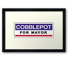Cobblepot for Mayor Framed Print