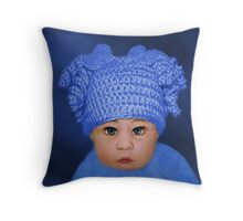 ADORABLE BABY BLUE CHILDRENS PILLOWS AND OR TOTE BAG Throw Pillow