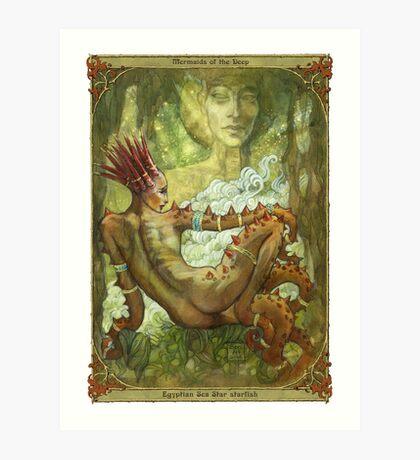 Mermaids of the Deep: Egyptian Sea Star Art Print