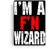 F'N Wizard Canvas Print