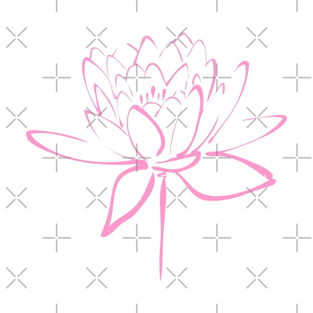Lotus Flower Calligraphy (Pink) by Makanahele