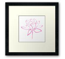 Lotus Flower Calligraphy (Pink) Framed Print