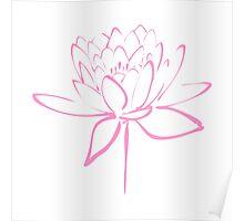 Lotus Flower Calligraphy (Pink) Poster