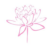 Lotus Flower Calligraphy (Pink) Photographic Print