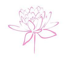 Lotus Flower Calligraphy (Pink) Photographic Print