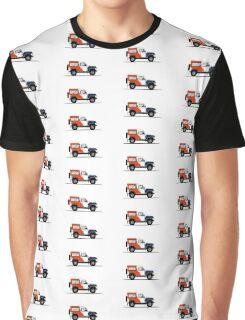 A Graphical Interpretation of the Defender 90 Station Wagon Bowler Motorsport Challenge (1) Graphic T-Shirt