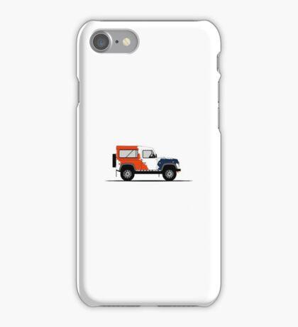 A Graphical Interpretation of the Defender 90 Station Wagon Bowler Motorsport Challenge (1) iPhone Case/Skin