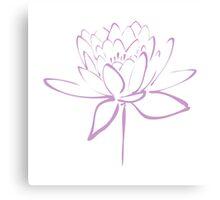 Lotus Flower Calligraphy (Lavender) Canvas Print