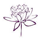 Lotus Flower Calligraphy (Purple) by Makanahele