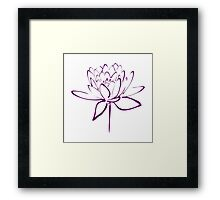 Lotus Flower Calligraphy (Purple) Framed Print