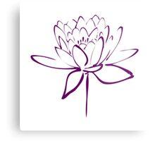 Lotus Flower Calligraphy (Purple) Metal Print