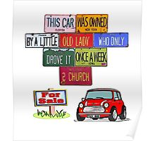 One careful Mini owner Poster