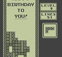 Retro Happy Birthday (1989 Tetris) by enthousiasme