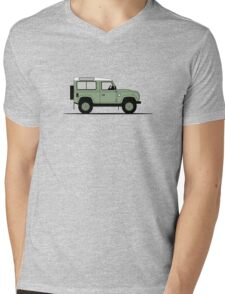 A Graphical Interpretation of the Defender 90 Station Wagon Heritage Edition Mens V-Neck T-Shirt