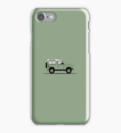 A Graphical Interpretation of the Defender 90 Station Wagon Heritage Edition iPhone Case/Skin