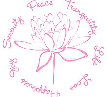 Serenity Tranquility Lotus (Pink) by Makanahele