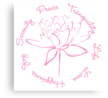 Serenity Tranquility Lotus (Pink) Canvas Print
