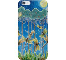 Moonrise & Dragonflies iPhone Case/Skin