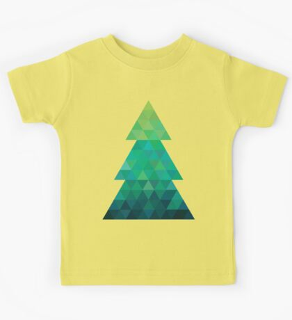 Triangle Christmas Tree Kids Tee