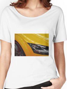 Yellow car detail of headlight Women's Relaxed Fit T-Shirt