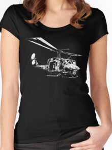 UH-1N Twin Huey Women's Fitted Scoop T-Shirt