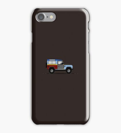 A Graphical Interpretation of the Defender 90 Station Wagon Paul Smith iPhone Case/Skin