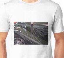 Detail of classical green vintage car hood. Unisex T-Shirt