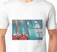 Beautiful blue shiny classic car hood and headlight Unisex T-Shirt