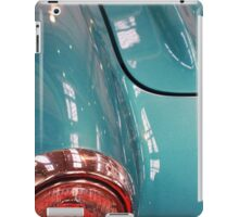 Beautiful blue shiny classic car hood and headlight iPad Case/Skin