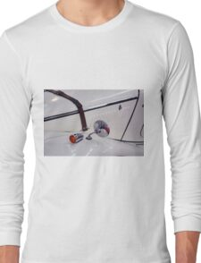 Detail of white vintage classic car Long Sleeve T-Shirt