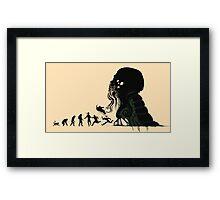 Lovecraft Darvinian Framed Print