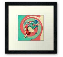 BombPop Framed Print