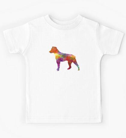 Brazilian Terrier in watercolor Kids Tee