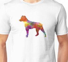 Brazilian Terrier in watercolor Unisex T-Shirt