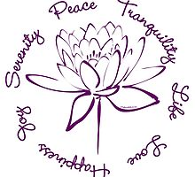 Serenity Tranquility Lotus (Purple) by Makanahele