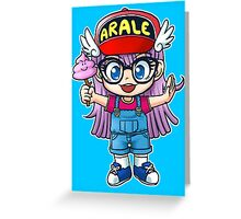Arale - Dr. Slump Greeting Card