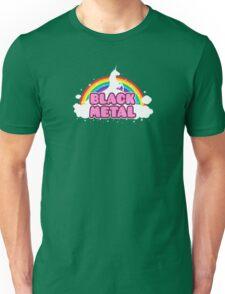 Black Metal Unicorn Rainbow Unisex T-Shirt